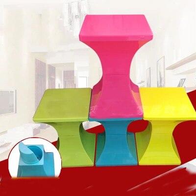 Стул для макияжа маленький квадратный пластиковый стул Специальное предложение