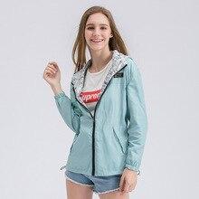 FEKEHA printemps automne femmes Bomber basique veste poche fermeture éclair à capuche deux côtés usure dessin animé impression Outwear manteau ample XS-XXL