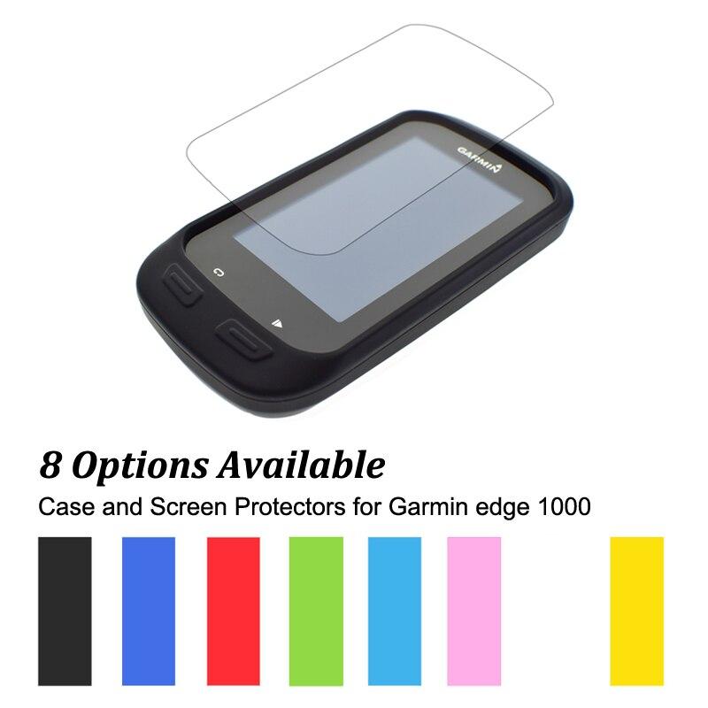 Gummi Schutz Haut-kasten + Clear Displayschutzfolien Schild Film für Radfahren Computer GPS Garmin Edge 1000/Rand Erkunden 1000