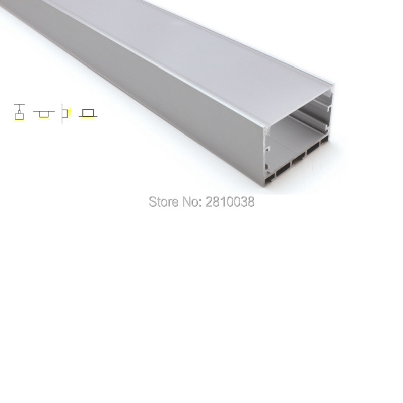 100 X 2M Sets/Lot T3-T5 tempered aluminum profile led lighting 35mm tall square aluminium led extrusions for wall recessed