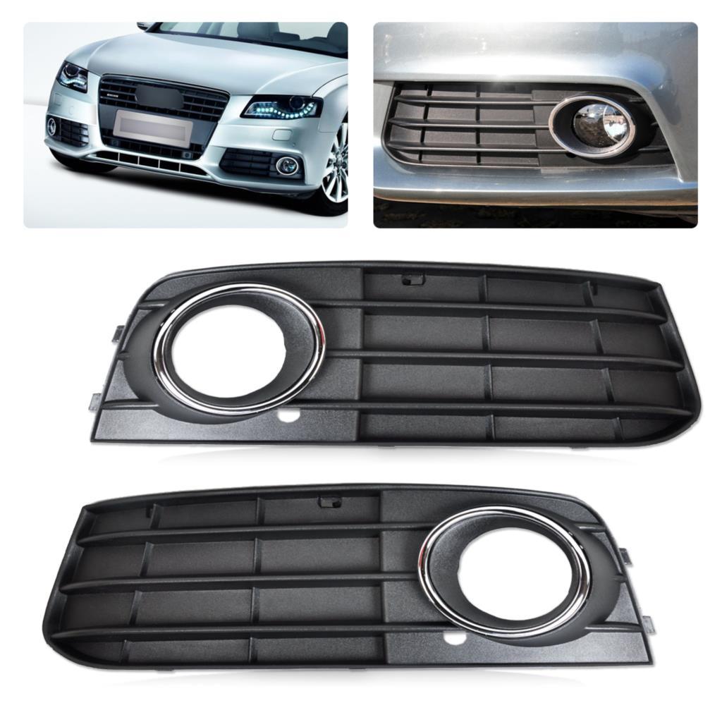 DWCX 2 шт. комплект черный правый левый противотуманный светильник крышка лампы решетка для Audi A4 B8 2008 2009 2010 2011 2012 8K0807681A 01C 8K0807682A 01C