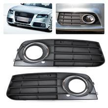 DWCX couvercle de phare antibrouillard   Kit de 2 pièces, couvercle de calandre pour Audi A4 B8 2008 2009 2010 2011 2012 8K0807681A 01C 8K0807682A 01C