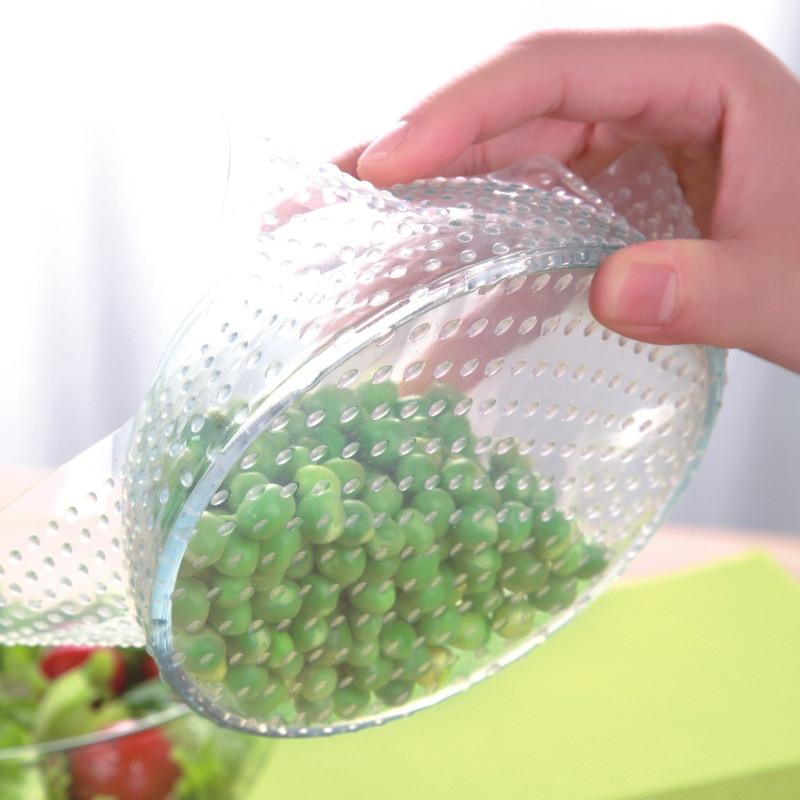 Cubierta De sellado De silicona reutilizable para Alimentos, mantenimiento fresco, 4 Uds.
