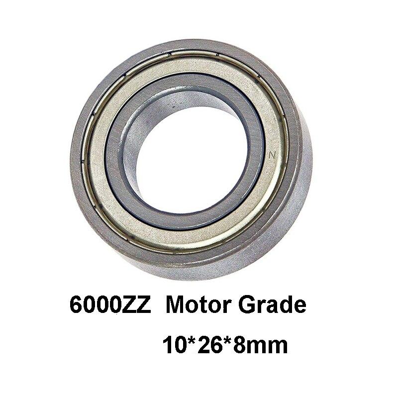 2 unids/lote 6000ZZ rodamiento de bolas de ranura profunda Motor grado 6000-ZZ 6000ZZ 10*26*8mm 10*26*8 52100 Material de acero cromado