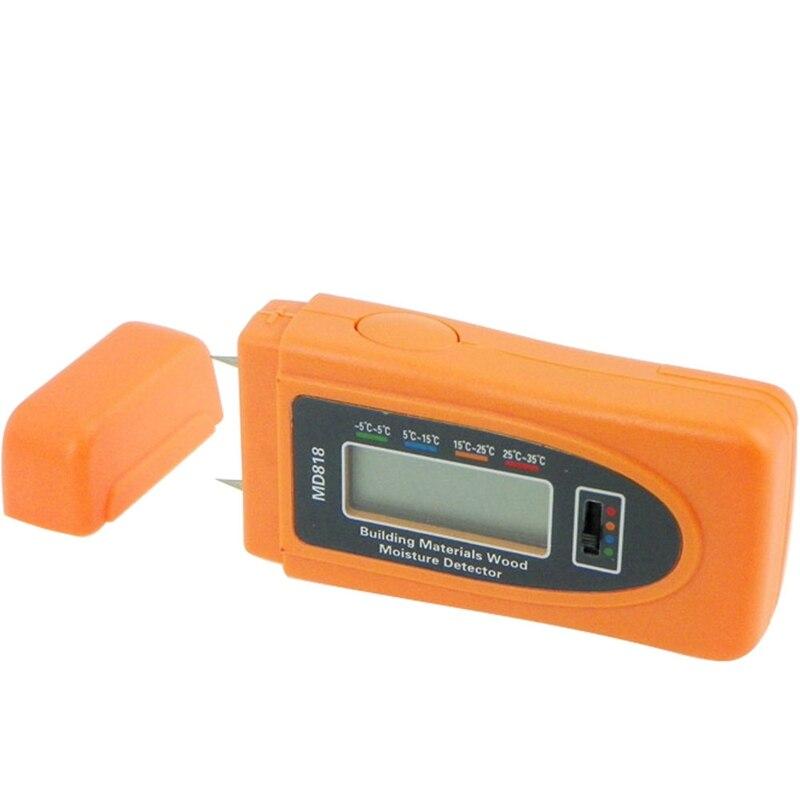 Портативный цифровой измеритель влажности древесины, бамбука, хлопка тестер влажности 5%-60% разрешение 0.5% RH LCD миниатюрные инструменты для в...