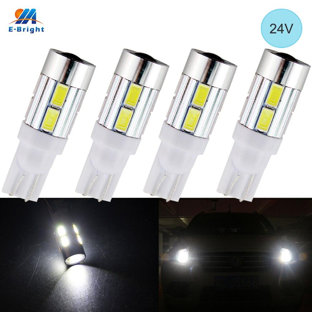 YM E-Helle 24V 4PCS T10 5630 10 SMD OBJEKTIV 194 168 W5W LED Glühbirne Freiheit licht Lizenz Platte Lampe LED Breite Lichter 10 LEDs