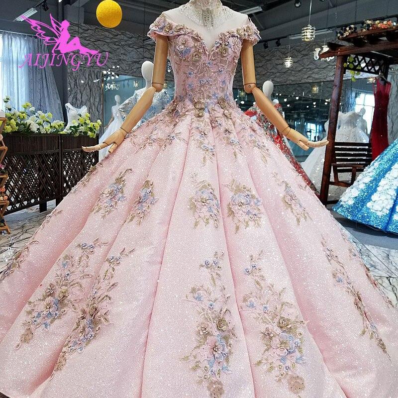 مستلزمات AIJINGYU فساتين زفاف قوطية فاخرة على الإنترنت ملابس زفاف للأميرة ثوب مغربي لحفل الزفاف