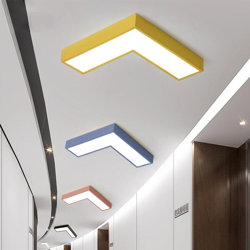 Colorido seta CONDUZIU a lâmpada Do Teto Simples Geometria Criativa Sala de Reuniões do Escritório Iluminação Do Corredor Sala de estar Quarto Lâmpada