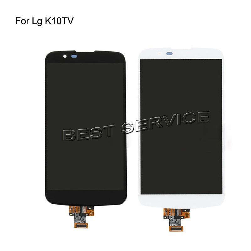 For LG K10TV K430TV K410TV LCD Screen Display with Touch Digitizer frame bezel Assembly not for LG K10