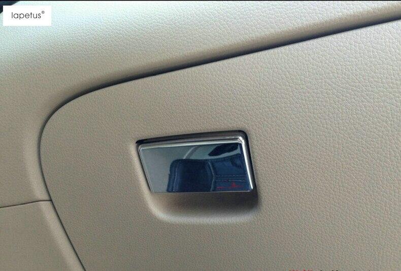 Lapetus, accesorios para Nissan Qashqai J11 2014-2020, guante copiloto, caja de almacenamiento con mango, moldura de lentejuelas, moldura de cubierta