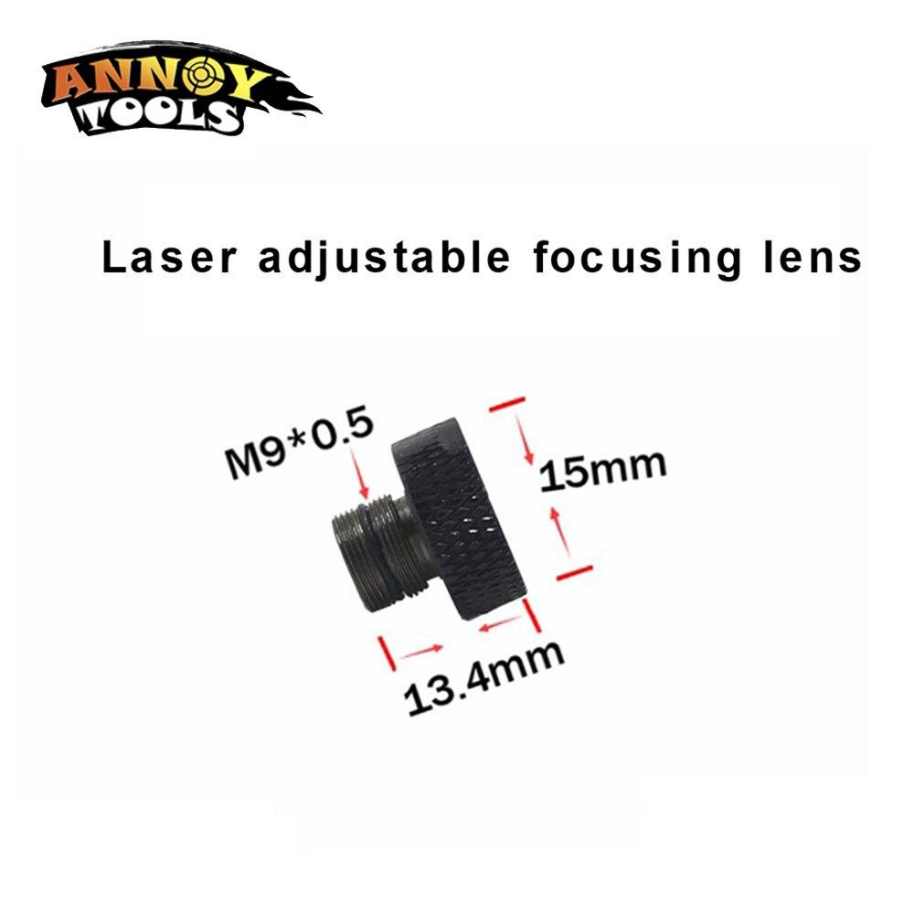 Новый Регулируемый фокусирующий объектив с трехслойным покрытием M9 * 0,5 для 405nm 445nm 450nm 1w 2w 2,5 w 3w 5,5 w лазерный диодный модуль