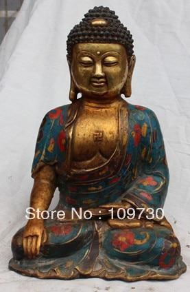 "00898 12 ""estatua de Buda Shakyamuni Sakyamuni de bronce del Tíbet chino"