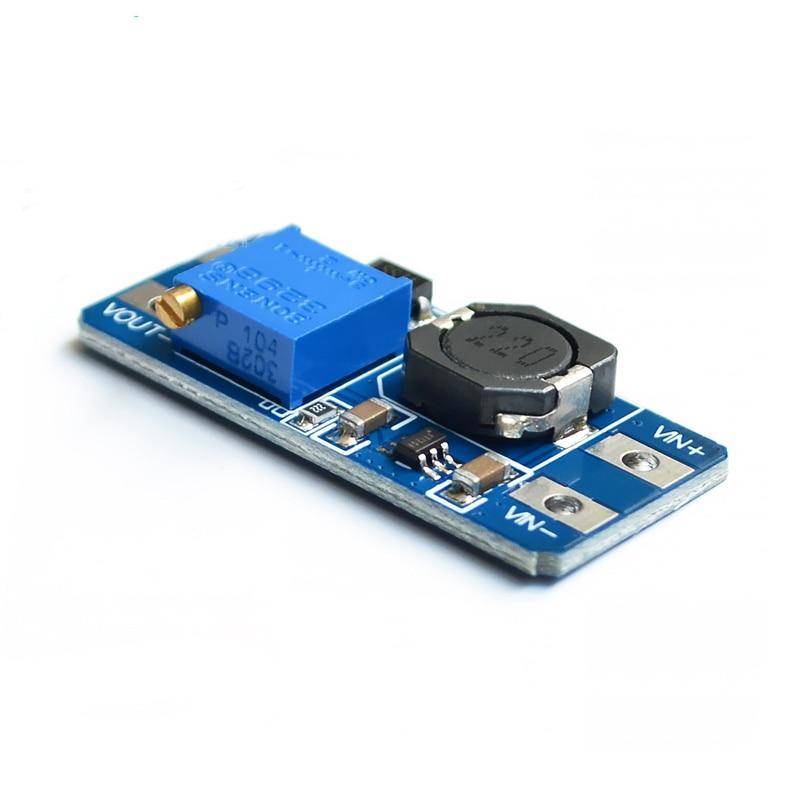 MT3608 2A convertidor de aumento de DC-DC módulo de fuente de alimentación Boost Step-up Board salida máxima 28V 2A para arduino