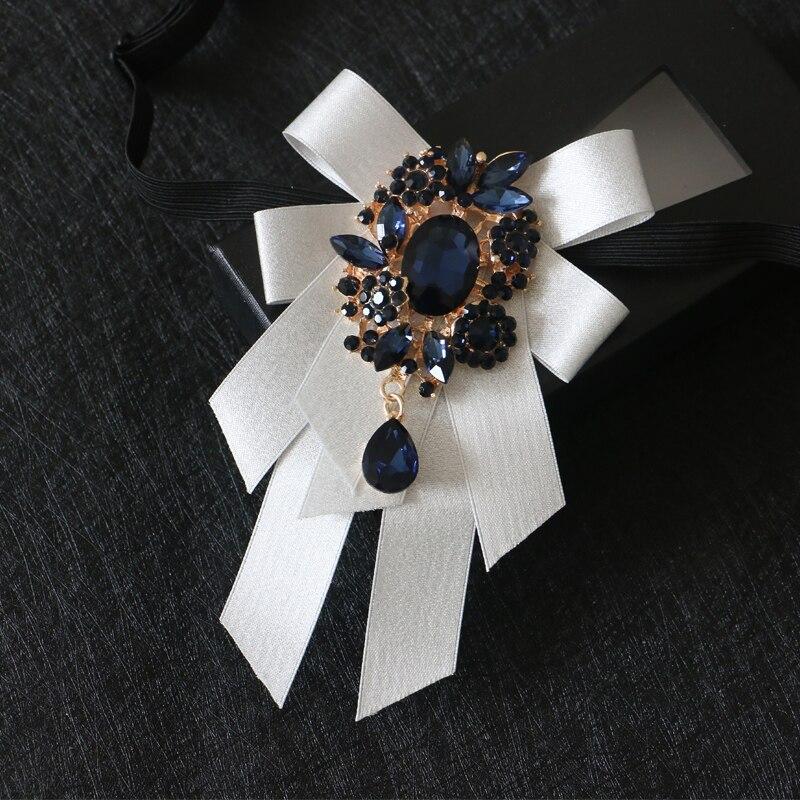 Fashion Necktie Groom Diamond Bow Ties Handmade Hoster Wedding Birthday Party Gifts Elegant Butterfly Silk Yarn Gravata Bow Tie