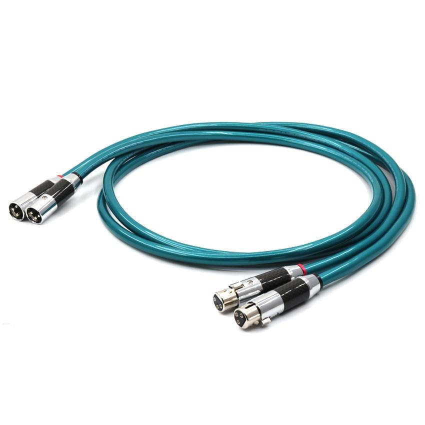 Câble dinterconnexion audio en cuivre pur Ortofon 8NX OFC Hifi avec prise XLR en fibre de carbone