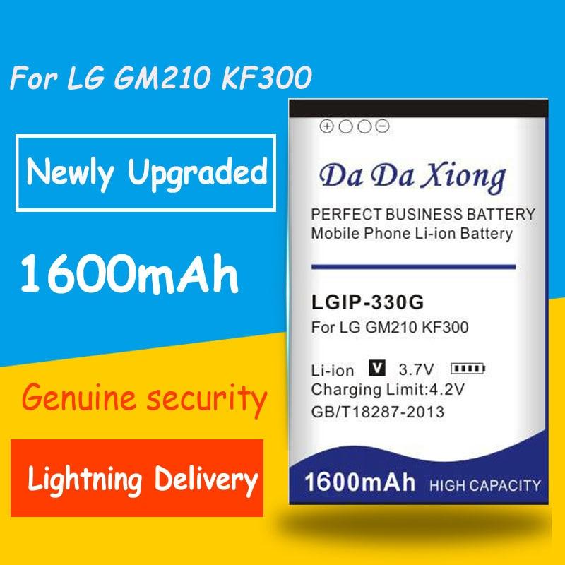 Бесплатная доставка 1600 мАч LGIP-330G LGIP330G батарея для LG GM210 KF240 KF245 KF300 KF305 KF330 KM380 сменные батареи