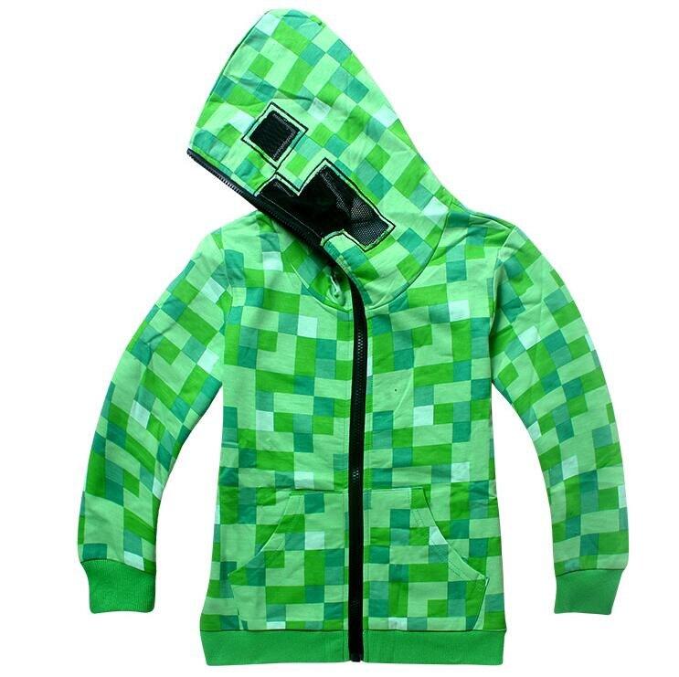 Green Plaid Hoodies Boys Coat Girls Overcoat Kids Jacket Spring Autumn Children Boys Jacket Clothes Outerwear 6-14Y