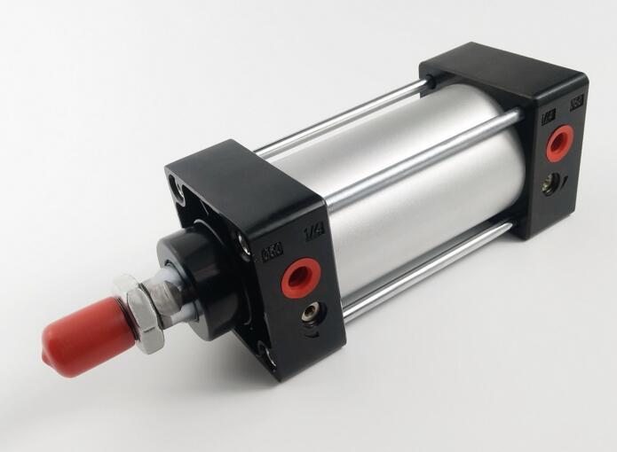 Cilindro de aire estándar de doble acción neumático serie SC de carrera de 32x100mm de tamaño Bor