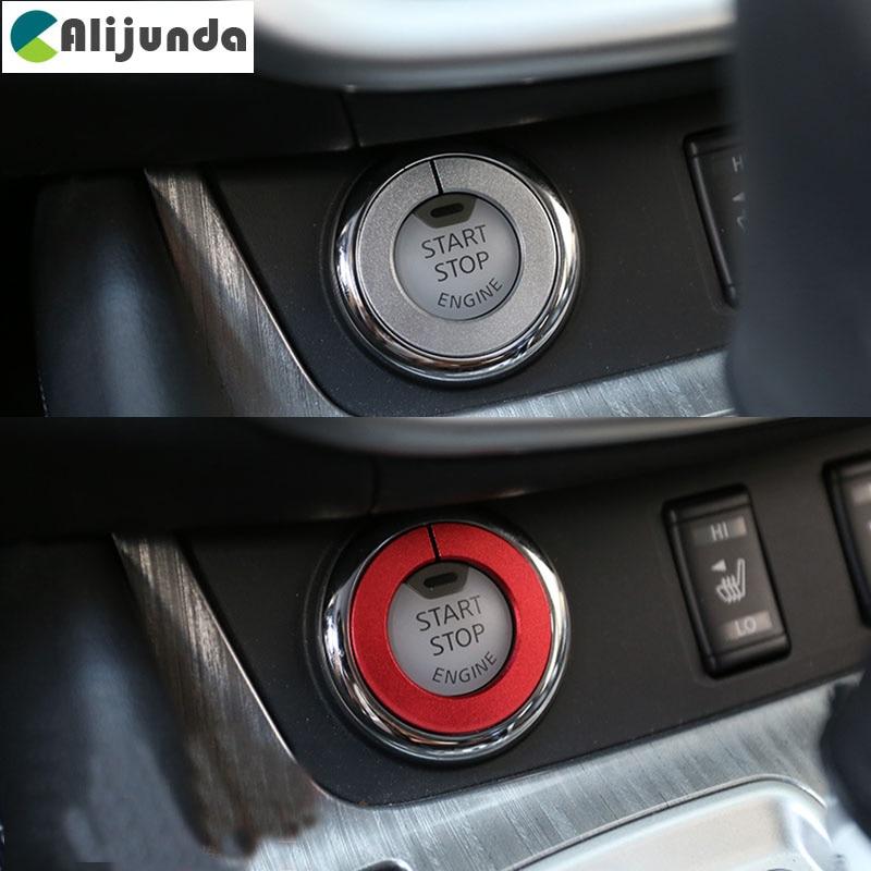 Decoración de interruptor de encendido pegatina de anillo embellecedor de llave para Nissan nuevo Qashqai Murano X Trail x-trail Teana 2015 2016 Accesorios