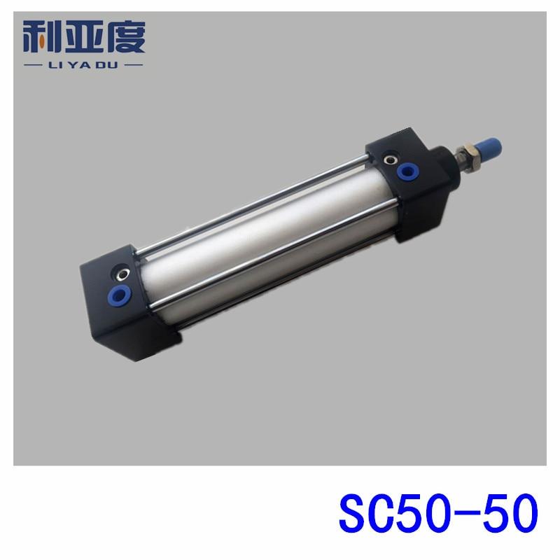 SC50*50 Rod aluminum alloy standard cylinder SC50X50 pneumatic components 50mm Bore 50mm Stroke