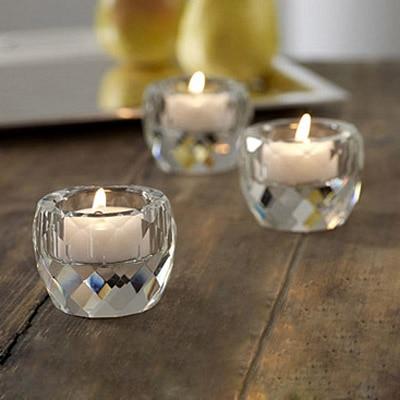 Bougeoir bougie en cristal clair   Bougeoir votif au milieu de diamant, bougeoir en cristal clair, livraison gratuite