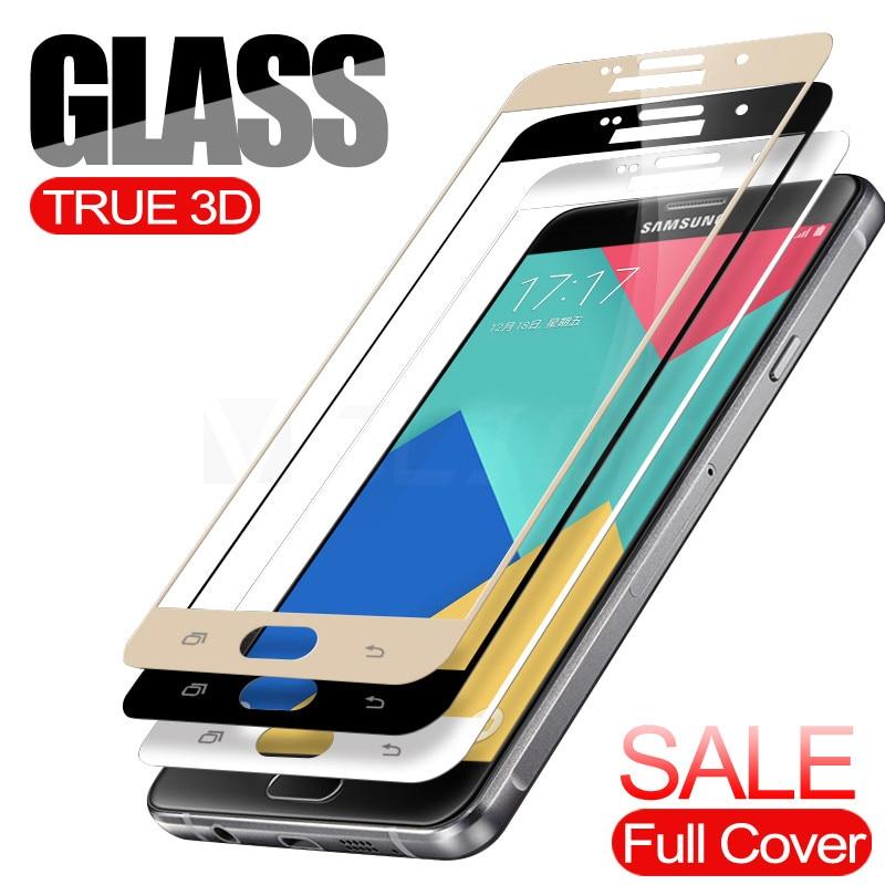 Vidrio Templado 3D VGCJOK para Samsung Galaxy S6, S7, A3, A5, A7, J5, J7, 2016, 2017, J510, J710, vidrio Protector de pantalla