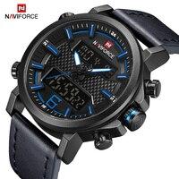 NAVIFORCE Mens Watches Luxurious Business Men Quartz Military Waterproof sports Chronograph Wrist watch Clock Male Reloj Hombre