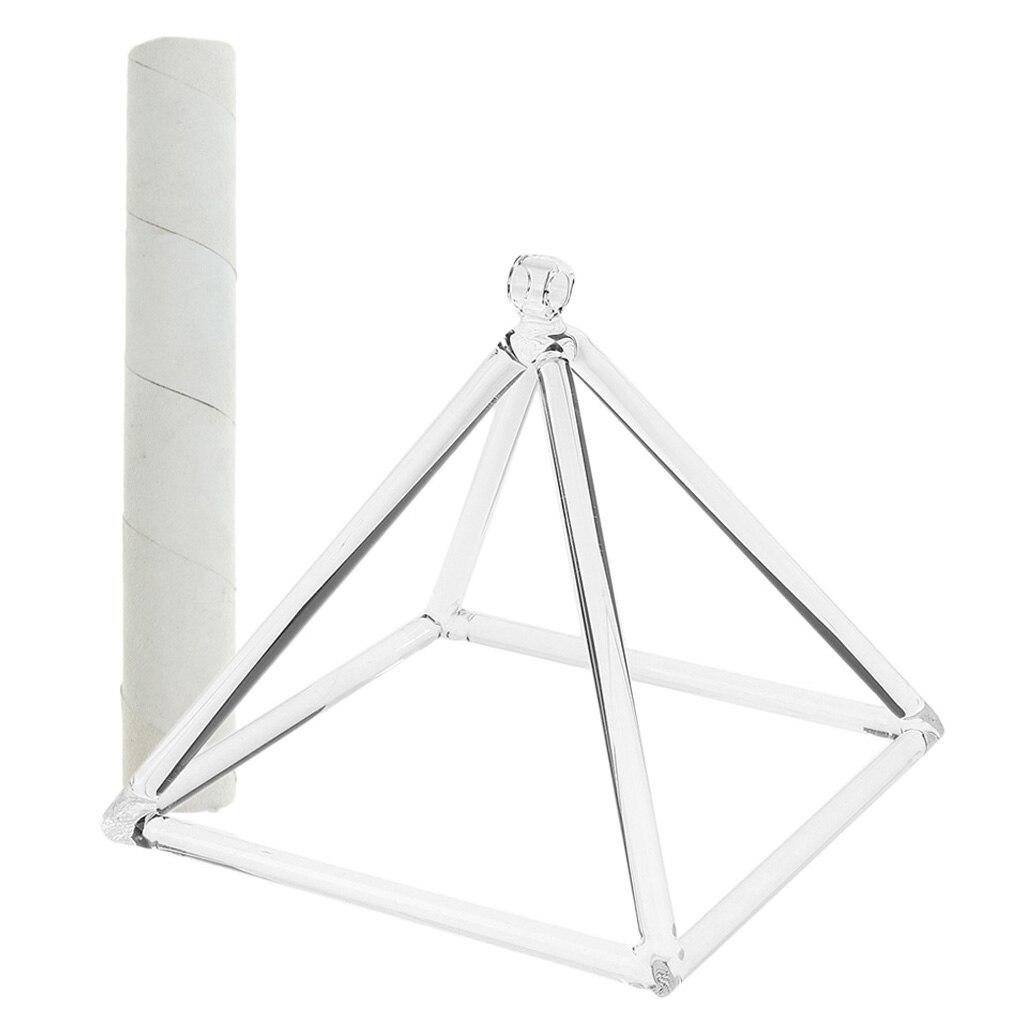 Chakra racine Quartz cristal chant pyramide C Note pour la méditation prière se détendre 6 'et maillet en daim