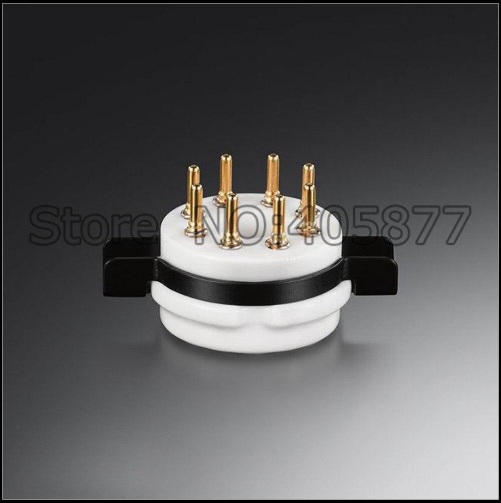2pcs Chassis Mount 8pin K8A Octal High Quality Ceramic tube sockets for 6SN7/6SL7/EL34/KT88/6550/6V6/6P3P