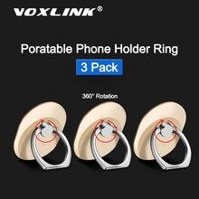 VOXLINK, 3 paquetes, soporte fino y ligero para teléfono, soporte para iPhone x 9, 8 Xiaomi, Samsung Huawei, todos los modelos de hebilla de anillo para teléfono
