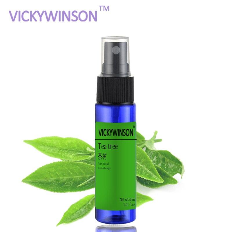 Aerosol de desodorización de árbol de té VICKYWINSON 30ml, aerosol desodorante para axilas, aerosol antitranspirante para reducir el olor al sudor para hombres y mujeres
