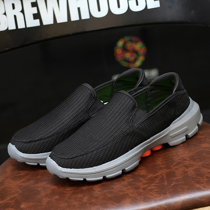 Купить с кэшбэком 2019  Driving Shoes Men Sneakers Breathable Mesh Footwear Men Casual Shoes Outdoor Slip On Loafers Men Lightweight Shoes
