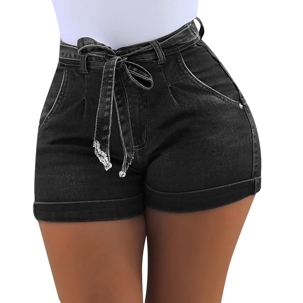2019 las nuevas mujeres de moda de pantalones cortos de mezclilla de verano de las mujeres jeans cortos de las mujeres bolsillo lavado tejano pantalones cortos spodenki damskie 40 *