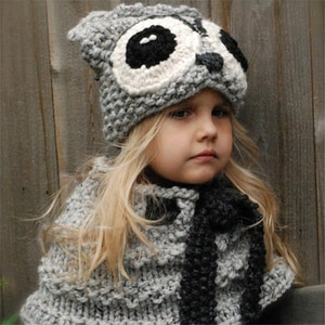 Selling handmade crochet hat children's animal ear wool hat bib hooded Owl collar hat cosplay autumn and winter anime