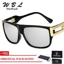 WarBLade 2019 Retro Flat Top Men Square Sunglasses Brand Designer Fashion Gradient Clear Lens Shades