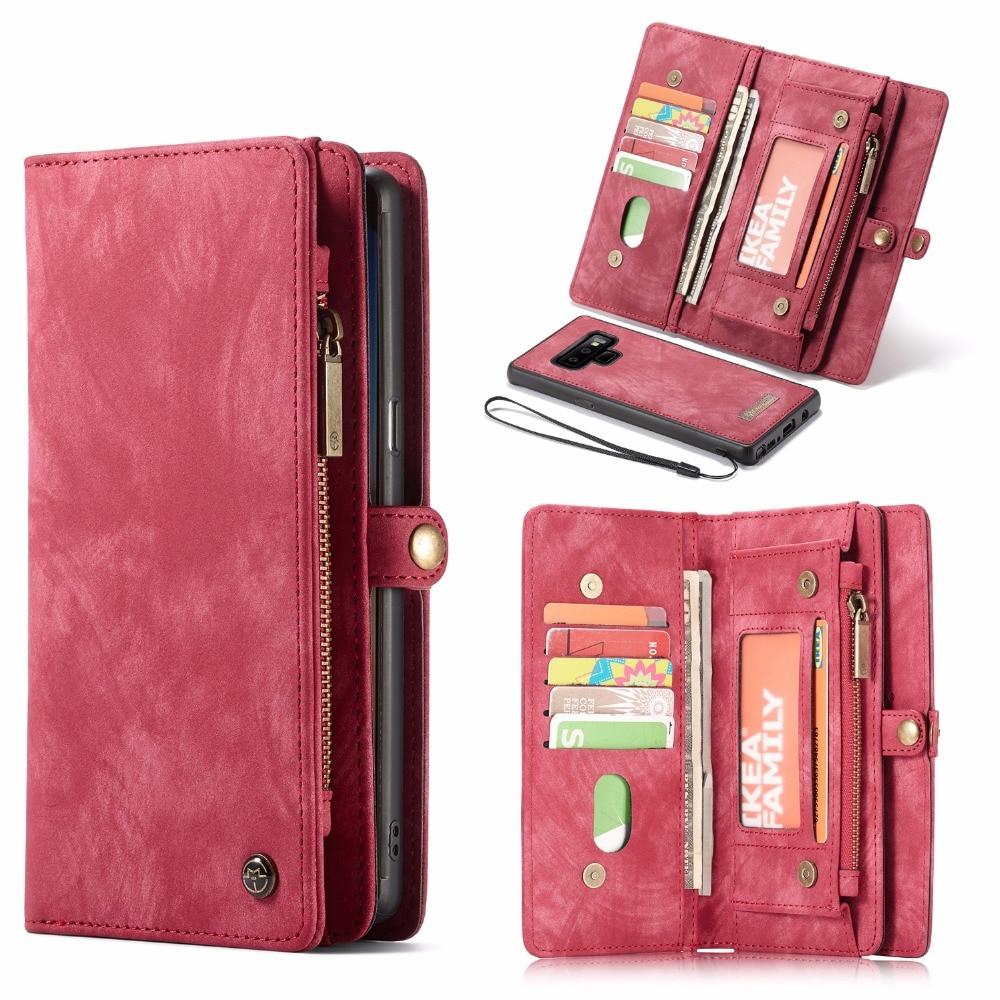 CaseMe кожаный флип-чехол для Samsung Note 8 9 10 S8 S9 S10 Plus S20 A30 A40 A50 A70 A51 многофункциональные магнитные чехлы для телефонов
