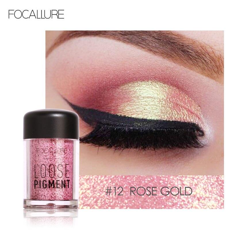 Focallure brilho sombra de olho 18 cores cosméticos maquiagem diamante lábios solto maquiagem olhos pigmento em pó comestic única sombra de olho