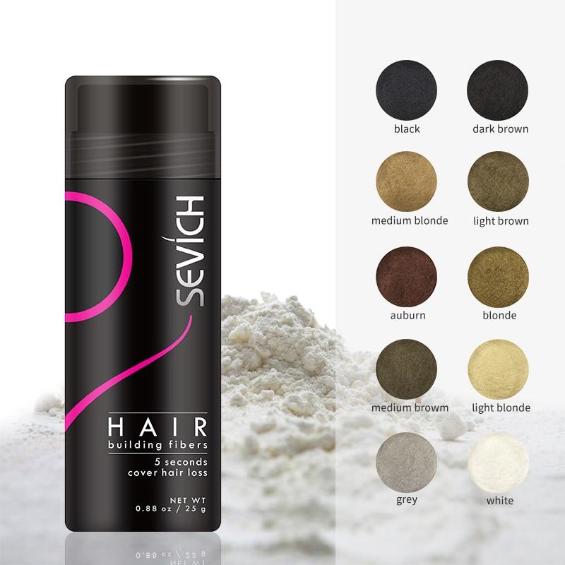 Sevich Haar Gebäude Fasern Keratin Dicker Anti Haarausfall Produkte 25g Refill Verdickung Faser Haar Pulver Wachstum Faser Pulver