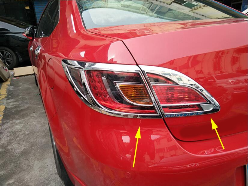 4 шт. ABS хромированный задний фонарь Накладка для Mazda 6 M6 2009 2010 2011 2012