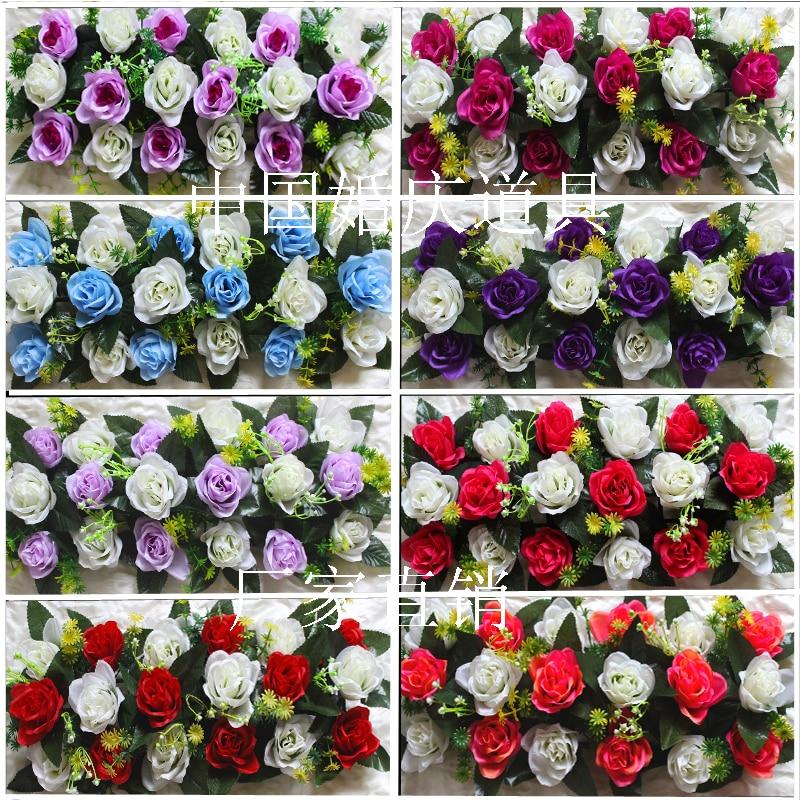 Hot sale Artificial Rose Arch Road Flowers Wedding props simulation bouquet silk flowers wedding arch flower wedding decoration