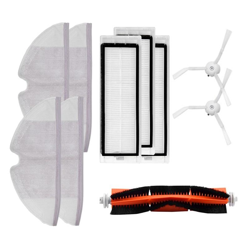 10pcs/lot Main brush Hepa Filter Side brush Mop cloths Kit accessories for Xiaomi mijia robot roborock s50 s51 roborock 2