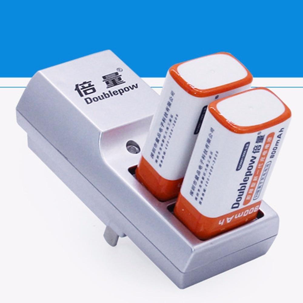 Новейшее зарядное устройство Doublepow с двумя слотами 9 В, полностью автоматическое зарядное устройство для аккумуляторных батарей с DP-K19