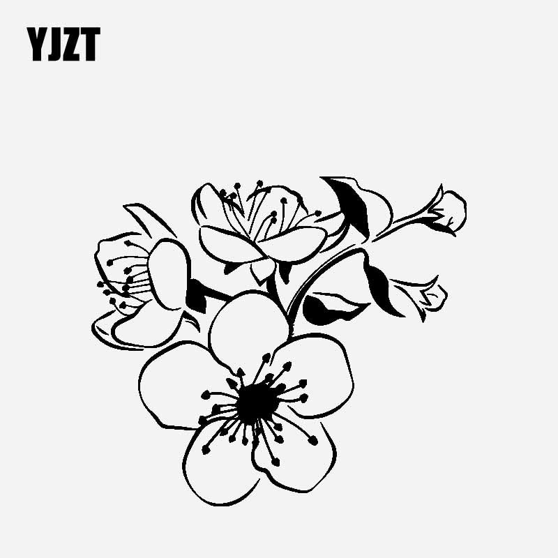 YJZT 16.6CM*14.1CM Car Sticker Vinyl Decal Creative Decoration Of Acorus Calamus Black/Silver C23-0447