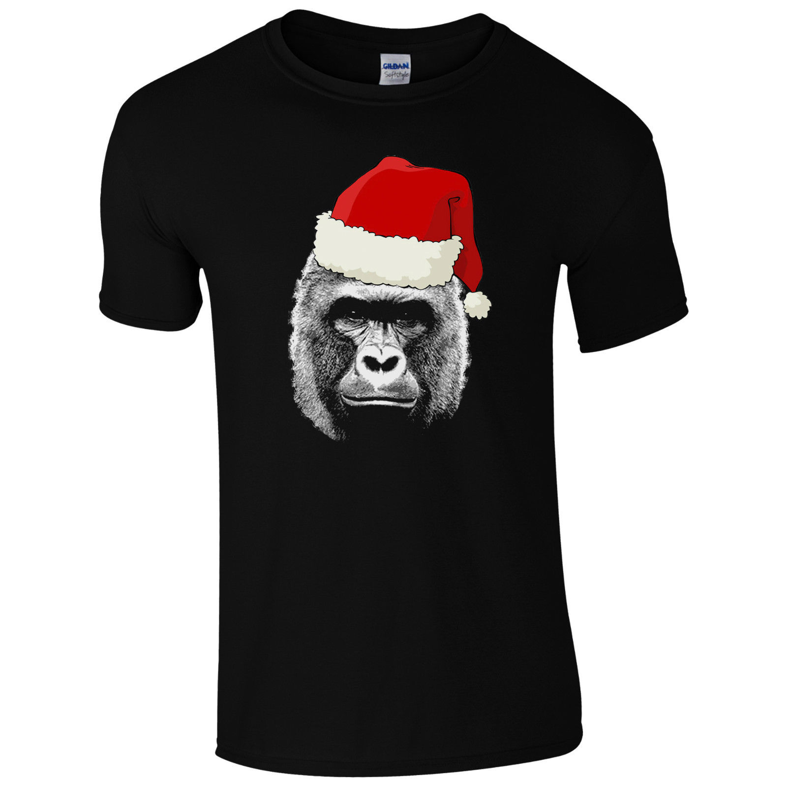 Harambe camiseta de sombrero de Navidad Santa-RIP Gorilla Cincinnati Zoo hombres regalo Top impreso camiseta verano hombres último hombre