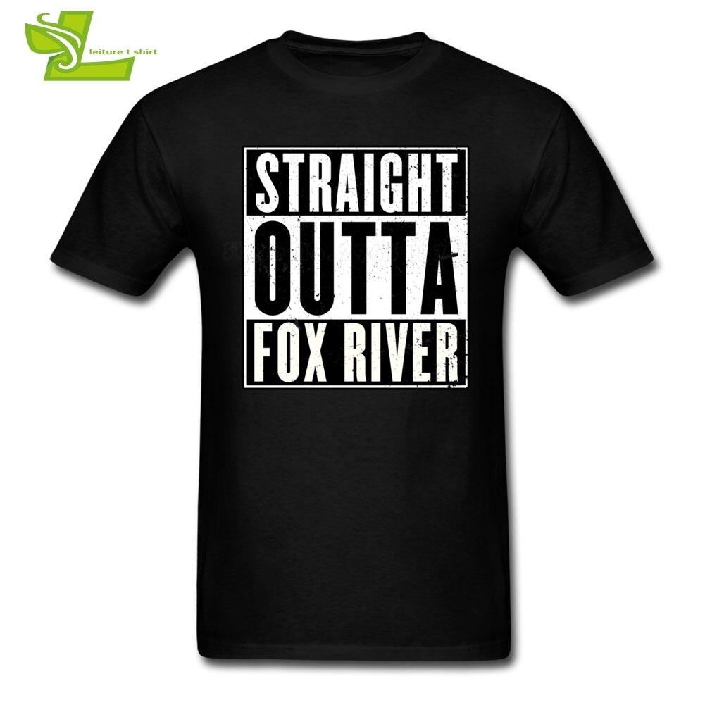 Rison Break Straight Outta Fox River, camiseta para adultos, camiseta suelto de ocio, camiseta de verano para hombres, camisetas con cuello redondo, ropa de personalidad para adolescentes
