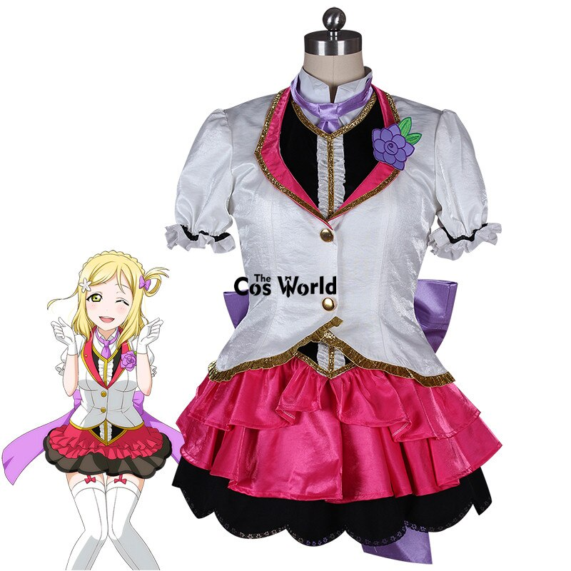 Amor en Directo especial-Mari Ohara Mirai boleto abrigo camisa chaleco vestido uniforme traje Anime Cosplay disfraces