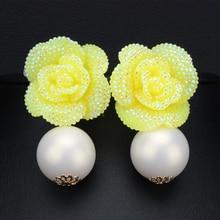 Groothandel Nieuwe Aangekomen Fashion Parel Sieraden Goud Kleur Grote Parel Oorbellen Bloem Druif Earring Voor Vrouwen Hoge Kwaliteit XLL168