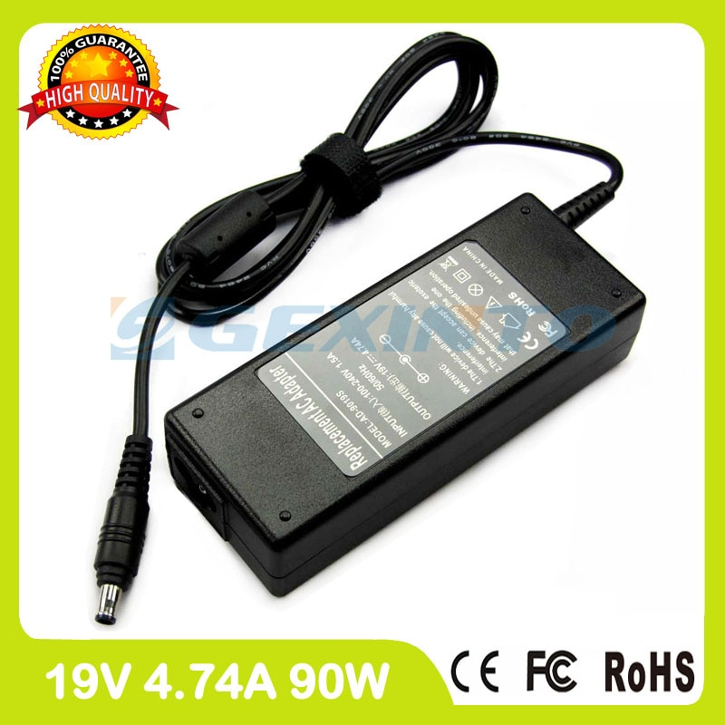 19 v 4.74A 90 w adaptador de corrente alternada laptop para Samsung carregador NP700Z3A NP700Z3C NP550P7C NP600B4A NP600B4B NP630Z5J NP670Z5E NP680Z5E