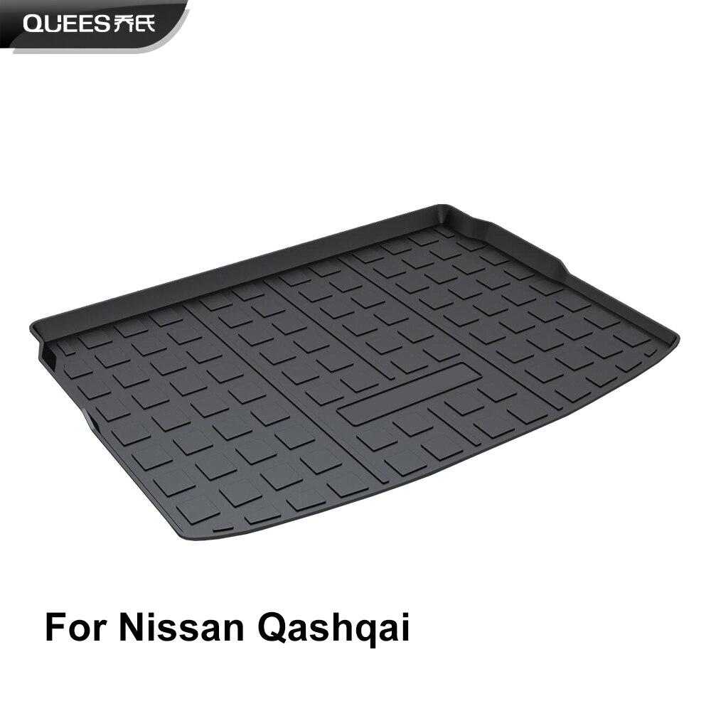 QUEES ajuste personalizado de carga de Mat tronco para Nissan Qashqai J10 J11 2007, 2008, 2009, 2010, 2011, 2012, 2013, 2014, 2015, 2016, 2017, 2018