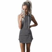 Sexy Women Sleeveless Hoodie Short Mini Dress causal slim dress Summer Beach Boho
